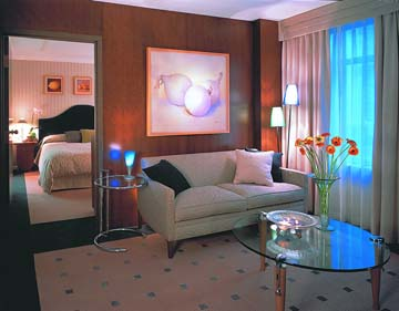 Art Deco Room at the Listel Hotel in Vancouver